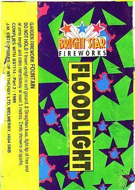Old Bright Star Fireworks Label - floodlight | Epic Fireworks | Flickr