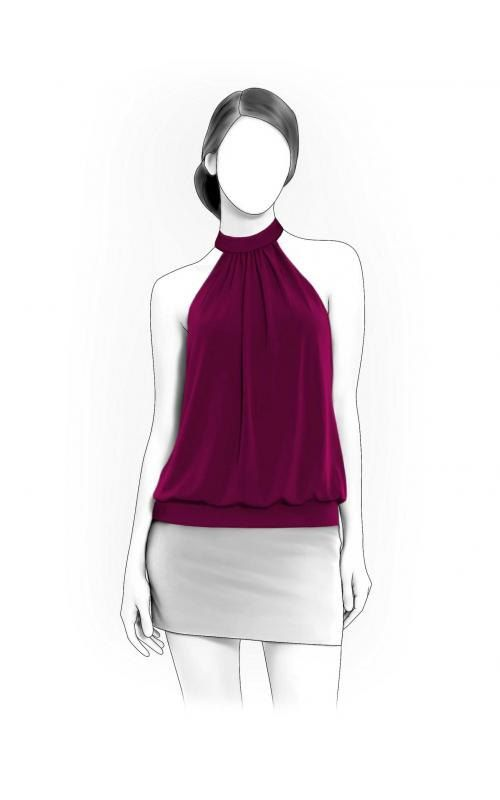 Lekala 4018 - Blouse Sewing Pattern PDF Download, Free Made to Measure Personalization, Royalty Free for Personal or Commercial Use