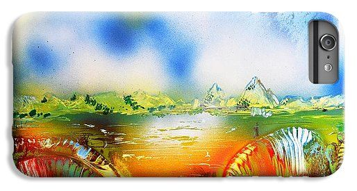 Rainbowland IPhone 7 Plus Case Printed with Fine Art spray painting image Rainbowland by Nandor Molnar (When you visit the Shop, change the orientation, background color and image size as you wish)