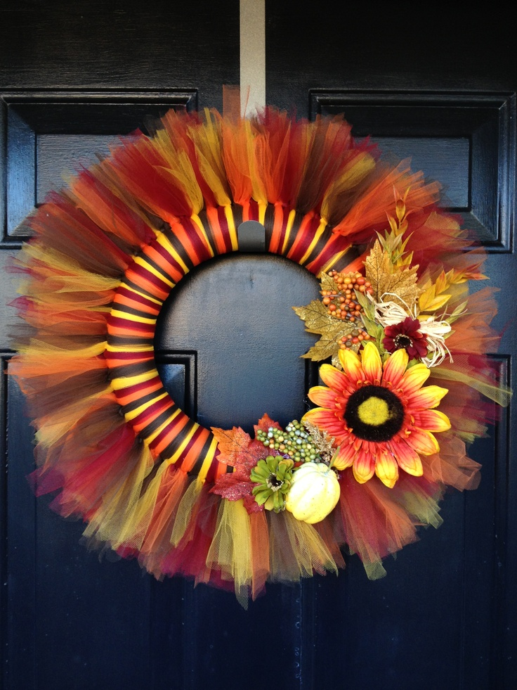 Fall Tulle Wreath Made It Myself For The Home