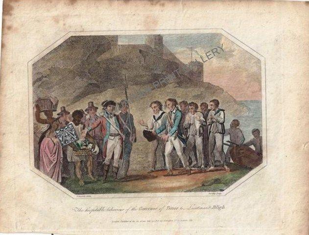Lieutenant William Bligh Mutiny on the Bounty Maritime Explorer Timor Antique Print 1802 - Antiquarian Print Gallery