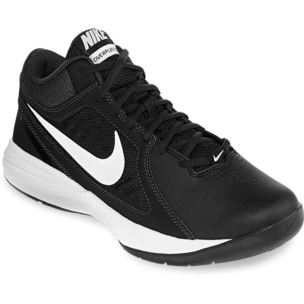 Nike Overplay VIII Womens Basketball Shoes ($45) ❤ liked on Polyvore featuring shoes, athletic shoes, black, basketball shoes, grip shoes, black athletic shoes, synthetic shoes and herringbone shoes