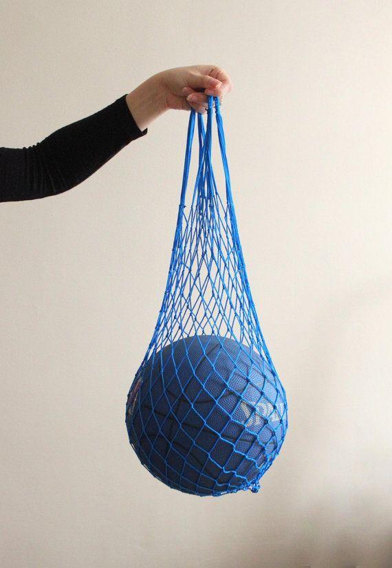 LAST ONE Eco friendly Royal Blue Net Bag  Go Green  by ILoveYoYo
