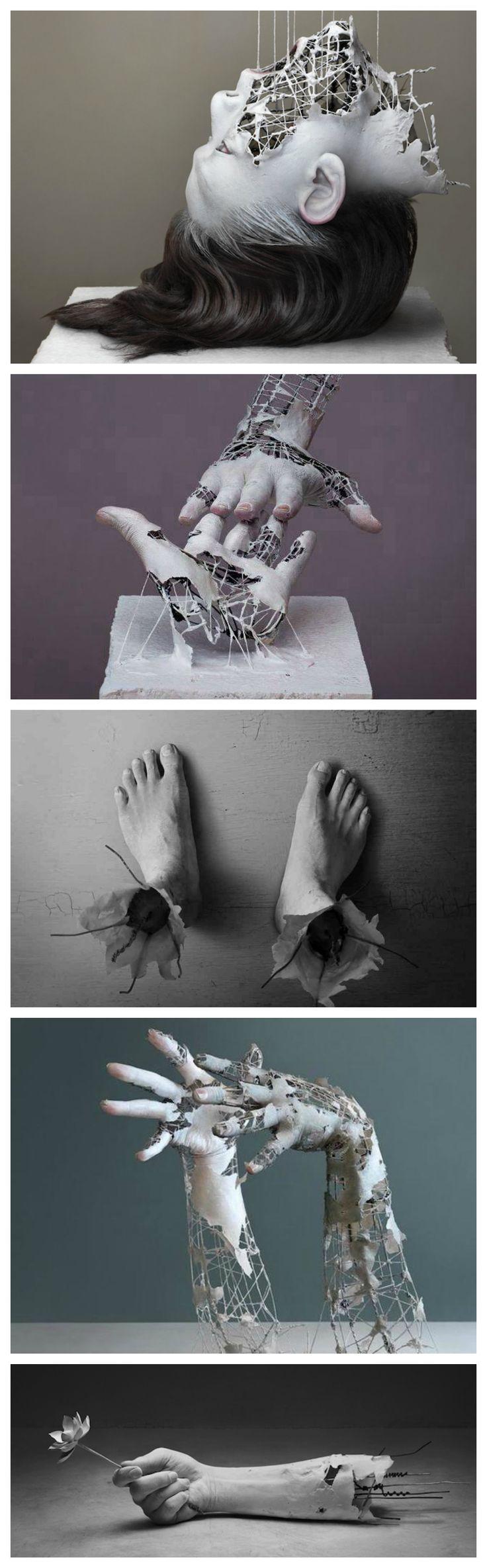Yuichi Ikehata, surreal human body extremities sculpture