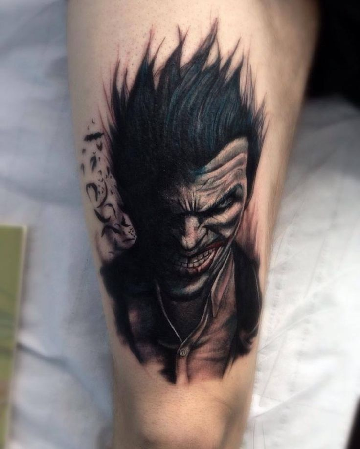 Batman tattoo joker tattoo body art pinterest for Joker batman tattoo