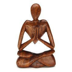 "BERSE MEDITATING WOOD CARVING Handcarved from sustainable rain tree wood, this sculpture sits 8"" high. Handmade by talented artisans in developing countries. Imported. Be sure to enter Kendra.IThoughtOfYou@gmail.com at checkout!"
