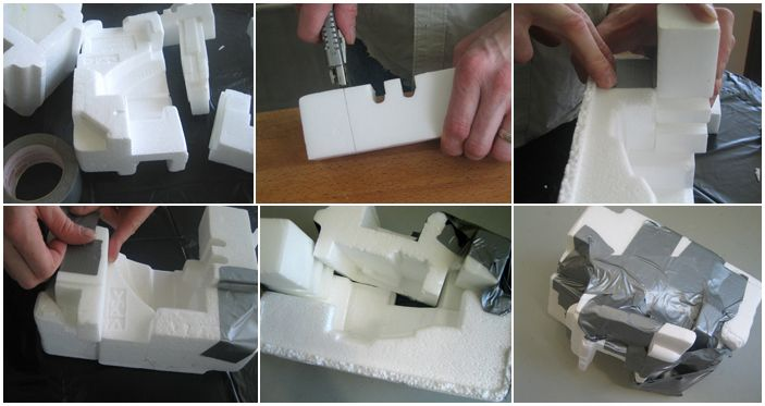 Plaster Casting Using Styrofoam Packaging Pieces