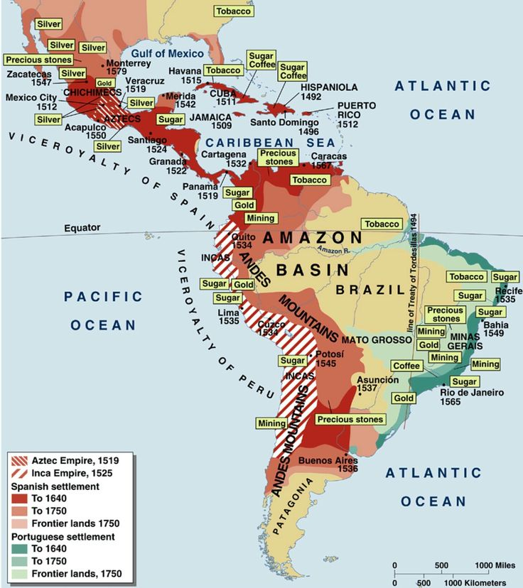 The American Empires of Spain and Portugal, 1492-1750. #America #SouthAmerica #LatinAmerica