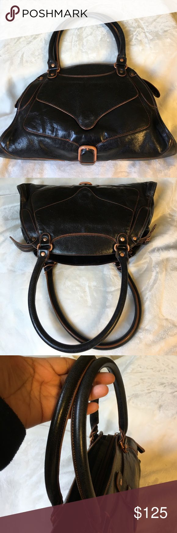 Sigerson Morrison leather satchel handbag Sigerson Morrison leather satchel handbag, made in Italy, lightly used, excellent condition, smoke free home Sigerson Morrison Bags Satchels