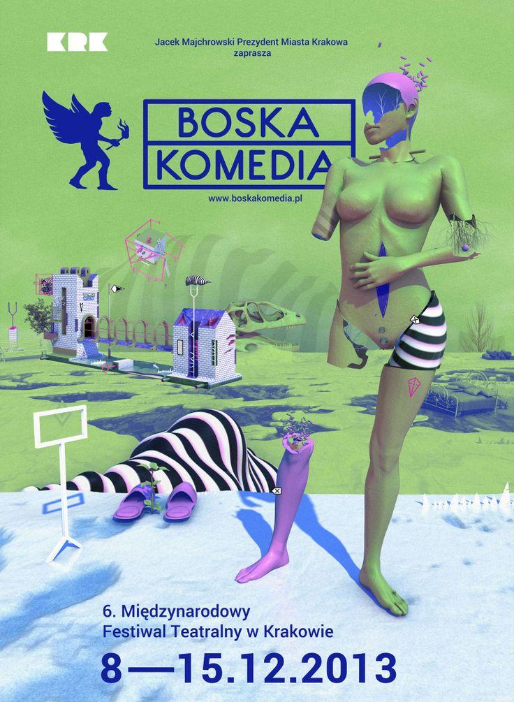 """Międzynarodowy Festiwal Teatralny """"Boska Komedia"""" - Przegląd nowego,  polskiego teatru. Festiwal podzielony  na trzy części. Każda odpowiada kolejnemu dantejskiemu wtajemniczeniu:  Inferno, Purgatorio i Paradiso. Najlepsze przedstawienia sezonu."""