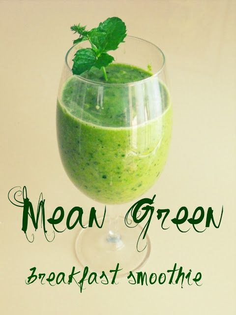crafty little gnome: Mean Green Breakfast Smoothie