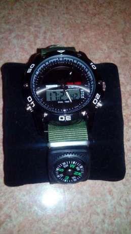 Военные тактические часы на солнечной батарее с Компасом. Dual-LED Киев - изображение 5