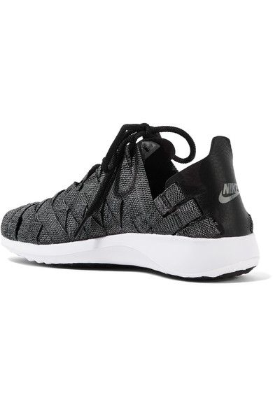 Nike - Juvenate Premium Faux Textured Leather-trimmed Woven Sneakers - Gray - US7.5