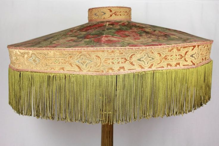 27 best images about best pendant lights lamp shades on for Antique floor lamp with fringed shade