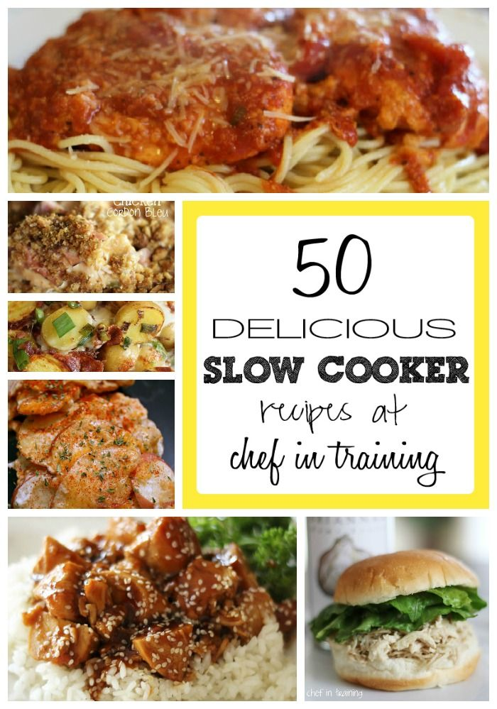 50 Slow Cooker Recipes - recipes the whole family will eat!