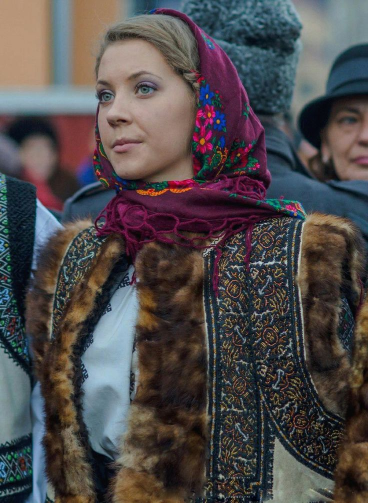Traditional costume clothing in Bucovina, Romania