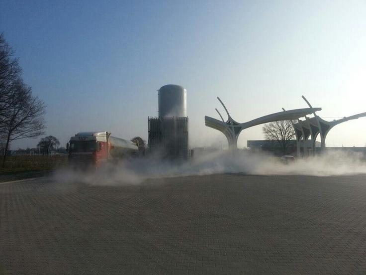 Biogas fuel station