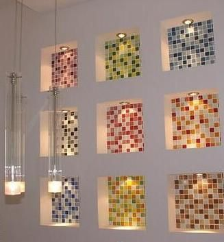 We manufacture glass mosaic tiles in Pune and india . Mosaic tiles are used in swimming pools, interiors and   exteriors,Glass Mosaic tiles manufacturer