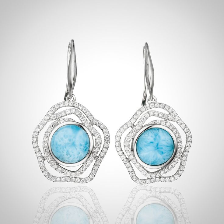 LAURA BONETTI ´Marcella Collection - Larimar Earrings – available ONLINE at Official Larimar.com Shop