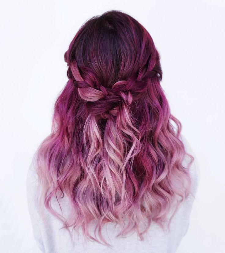 See this Instagram photo by @evalam_ • 3,698 likes Purple Violet Red Cherry Pink Bright Hair Colour Color Coloured Colored Fire Style curls haircut lilac lavender short long mermaid blue green teal orange hippy boho ombré Pulp Riot