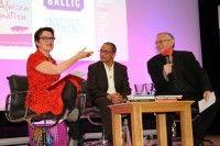 Rosie Goldsmith (chair), Yasmina Khadra and translator Howard Curtis at European Literature Night 2015