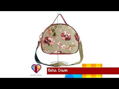 Aula em vídeo de bolsa artesanal de tecido Diann - Maria Adna Ateliê
