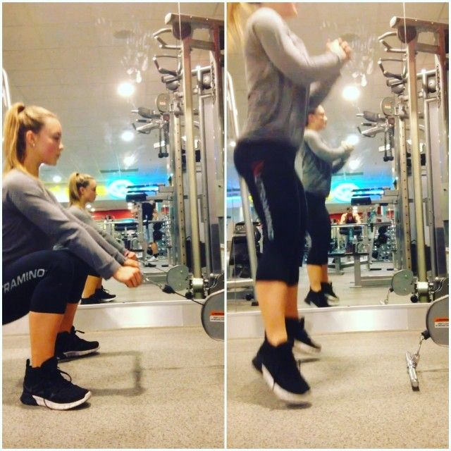 #ShareIG Feel The burn - a lovely superset for the glutes  Squat in the cable superset with jump Sumo squat  #squat #burn #glutes #workout #fibo