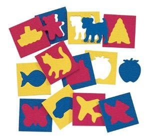 Familiar Things: Can improve visual perception by identifying and placing the corresponding shape into its correct slot.