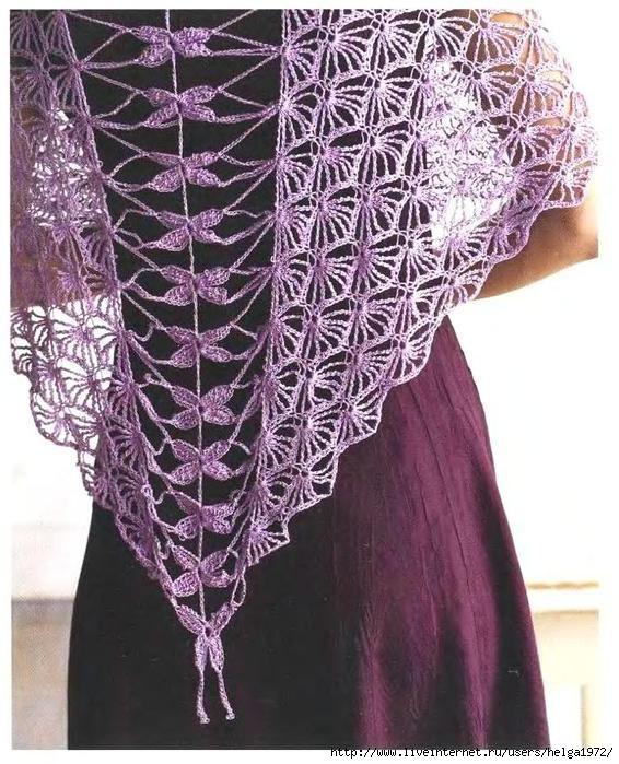 Crochet Dragonfly Shawl Pattern