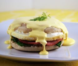 Our Hamilton Beach Breakfast Sandwich Maker is not just for simple breakfast sandwiches.  Try this great recipe for Eggs Benedict!