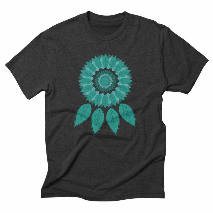 Dreamcatcher, triblend onyx t-shirt. #dreams #dreamcatcher #nature #tshirt #apparel #threadless #minimal #menswear #womensfashion #fantasy