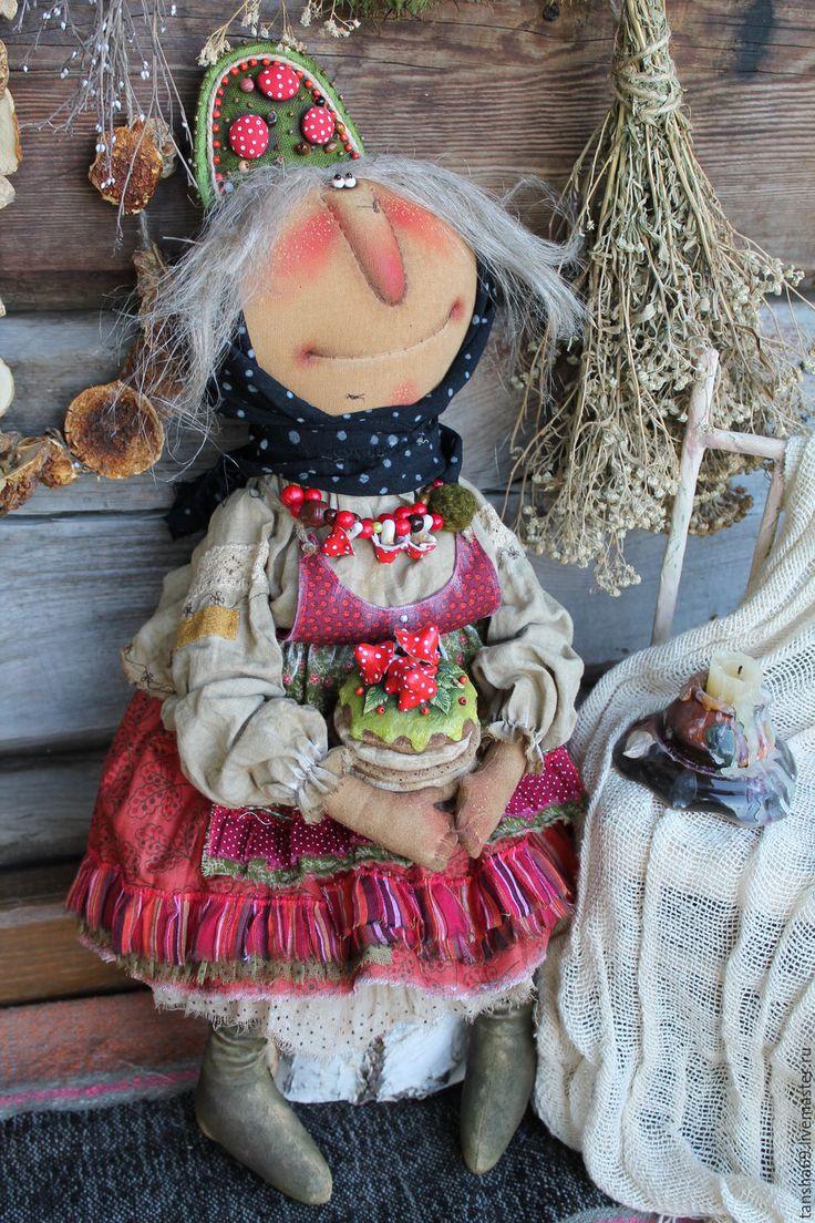 Купить Праздничный пирог! - комбинированный, текстильная кукла, ароматизированная кукла, интерьерная кукла, сказочный персонаж