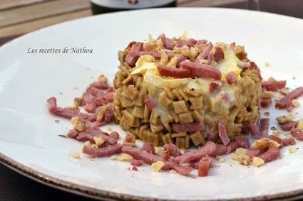 Crozets façon risotto au Reblochon, bacon et paprika fumé
