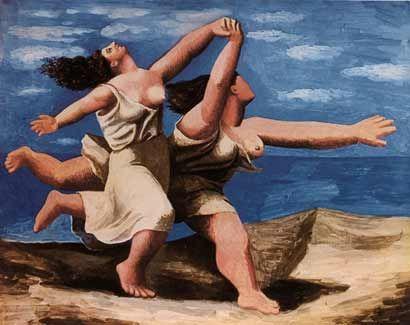 Duas mulheres correndo na praia é uma pintura sobre um pequeno painel feito por Picasso durante o seu período neoclássico em 1922. É frequentemente considerado como uma de suas mais importantes pinturas em miniatura.