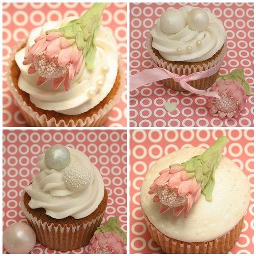 Protea Wedding Cupcake Demo | Flickr - Photo Sharing!