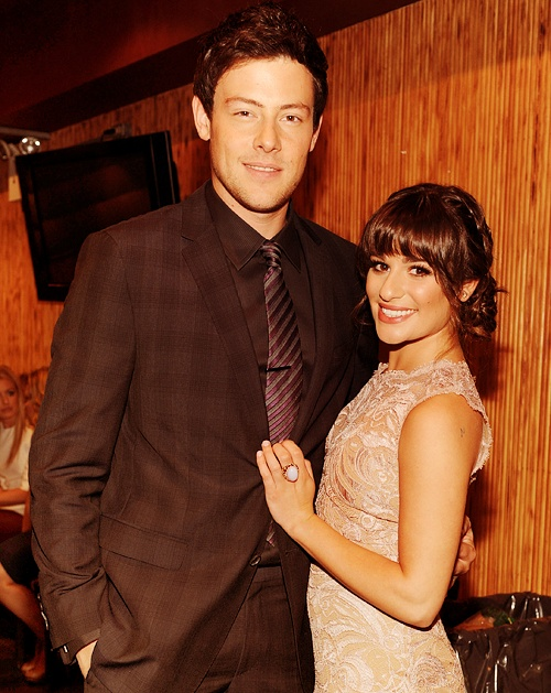 Cory Monteith and Lea Michele/ They complimented each other well #PrayForLea #PrayForMonteithFamily #RIPCoryMonteith