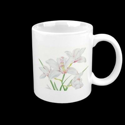 Hand Drawn Orchid Mug