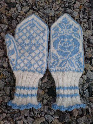 Rosevotter | Dogrose mittens | Selbu pattern | Knitting | Norwegian mittens | Stranded knitting | | Petronellas kreative verden...