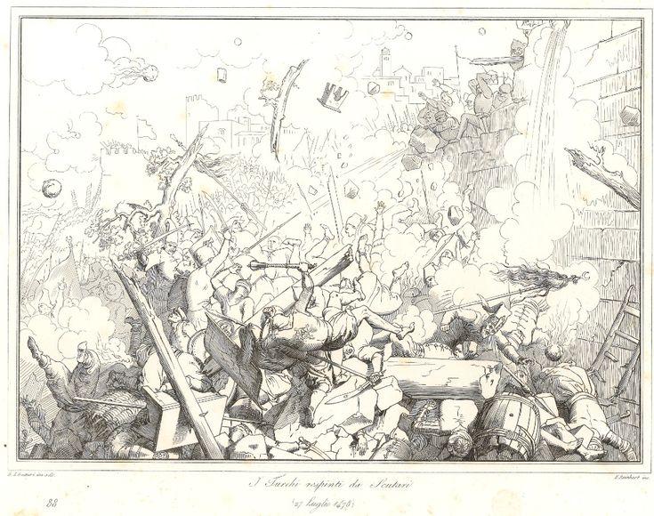 """I_Turchi_respinti_da_Scutari""_Gatteri's_Etching_of_the_Siege_of_Shkodra.jpg (999×788)"
