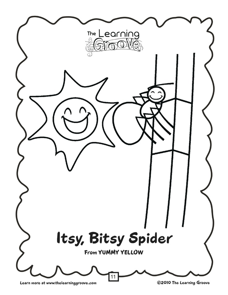 photograph relating to Itsy Bitsy Spider Printable named Did oneself at any time speculate what took place in direction of the Itsy Bitsy Spider