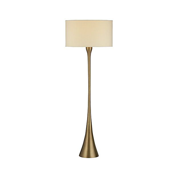 Melrose Brass Floor Lamp | Crate and Barrel