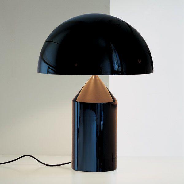 """Vico Magistretti  """"Black Atollo Table Light 233"""" by Oluce"""