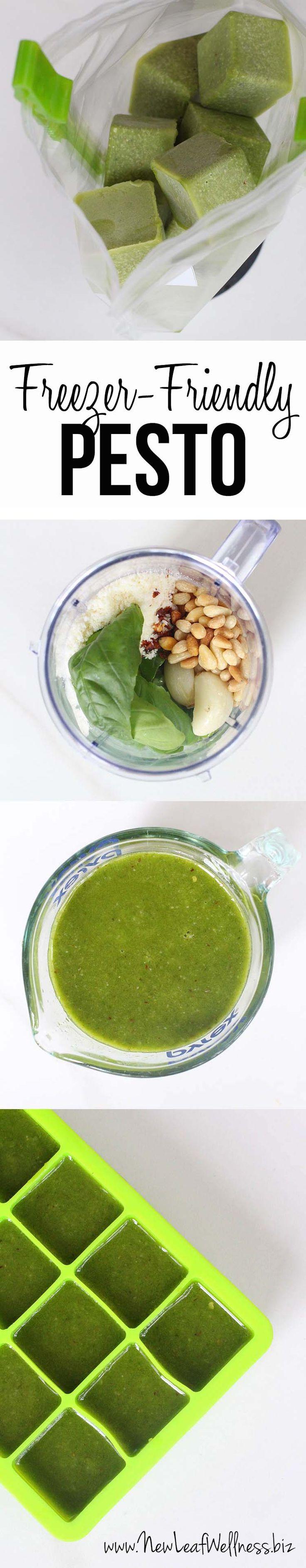 Make and freeze pesto recipe