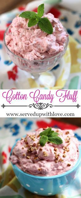 Cotton Candy Fluff recipe from Served Up With Love. So easy to whip up that you will look like a rock star at the BBQ!  www.servedupwithlove.com
