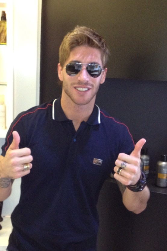 Sergio Ramos with his new haircut