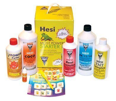 HESI Starter Kit Coco by Hesi. $105.95. HESI Starter Kit Coco. The Hesi Starter Kits are a good value for the money. You get all of the required nutrition for your plants to thrive - conveniently packaged in one box. Hesi Hydroponics Starter Kit includes:1 liter Hydro Growth1 liter Hydro Bloom Complex500 ml PK 13/14500 ml Root Complex500 ml Power Zyme10 ml Super VitHesi Coco Hydroponics Starter Kit includes:500 ml TNT Complex1 liter Coco Bloom Complex1 liter PK 13/14500 m...