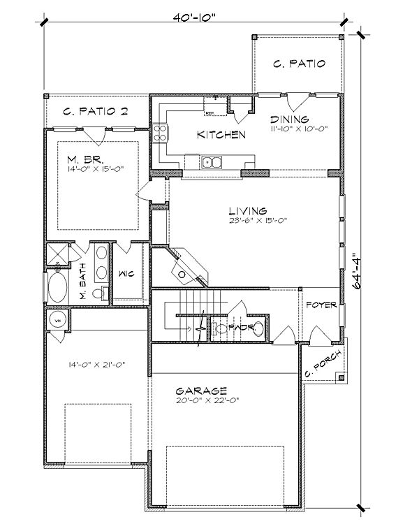 First Floor Plan Image Of Featured House Plan Bhg 4813