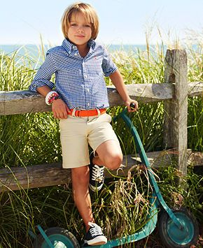 Ralph Lauren Little Boys' Blake Gingham Shirt & Prospect Shorts - Kids SALE & CLEARANCE - Macy's
