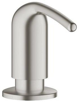 $90 Grohe Ladylux Soap Dispenser, SuperSteel (40553DC0) contemporary-bath-products