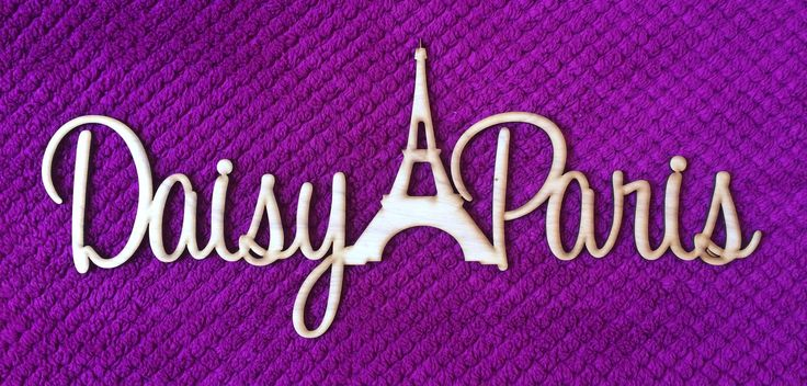 One day Daisy wants to live in Paris. Until then she will dream about it with her own personal door sign.